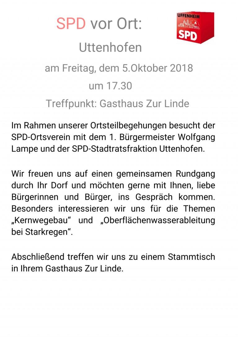 SPD vor Ort in Uttenhofen